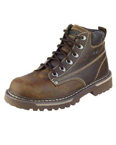 Skechers Mens Sk4479 Boots Chocolate/Dark Brown Size 9