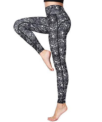 HAPYWER Damen Leggings Lang Sport Yoga Hose Hohe Taille Training Tights Gym Pants Laufhose(Floral,S) -