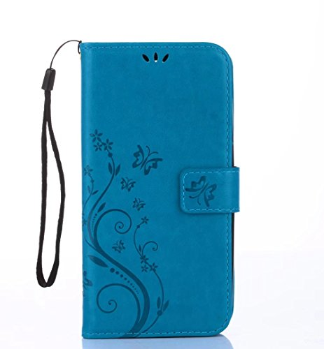Huawei Nova Young Case,Stylishly Wallet Cover GOGME [Embossed Wallet Series],Beautiful and Elegant Pattern(Butterfly) Premium PU Leather Flip Handset Shell with Stand and Card Slots Butterfly Shell