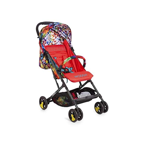 Cosatto CT4254 Woosh 2 Spectroluxe 7.2 kg Cosatto Suitable from birth to max weight of 25kg, lets your toddler use it for even longer Lightweight, sturdy aluminium frame New-born recline 1
