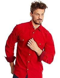 DESIGUAL Herren Designer Hemd Shirt - DUROY -