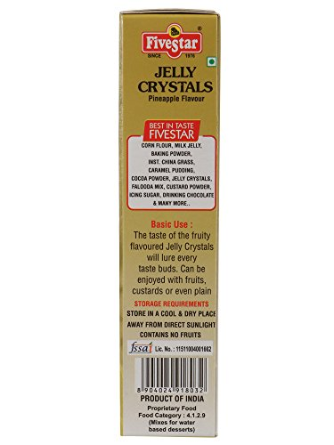 Veg Jelly Crystals Pineapple 90g Box, Pack of 4