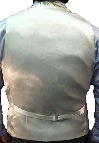 Herren-Qualität Paisley-Weste und Fliege-Set in 5 verschiedenen Farben(paisley waistcoats) Silber(silver)
