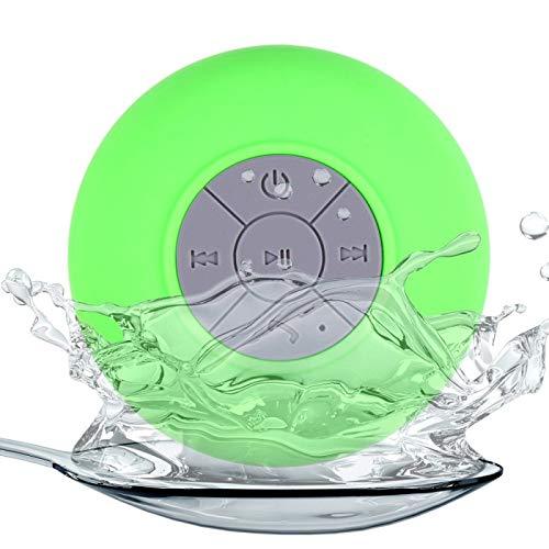 Mini-Lautsprecher Tragbares Bluetooth Wasserdichter drahtloser Bluetooth-Duschlautsprecher MP3-Badradio für iPhone Samsung Sony
