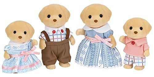 SYLVANIAN FAMILIES- Famiglia Labrador Creme Caramel Mini Bambole, Multicolore, 5182
