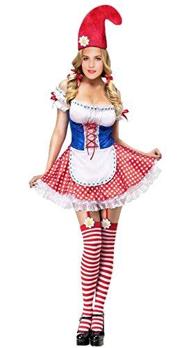Garden Gnome Costume , Women Sexy Gnome Adult Halloween