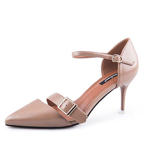 Tacchi Moda Autunno/Fibbia In Metallo Scarpe/Scarpe Solid Color B