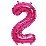 ballonfritz Ballon Zahl 2 in Pink - XXL 40