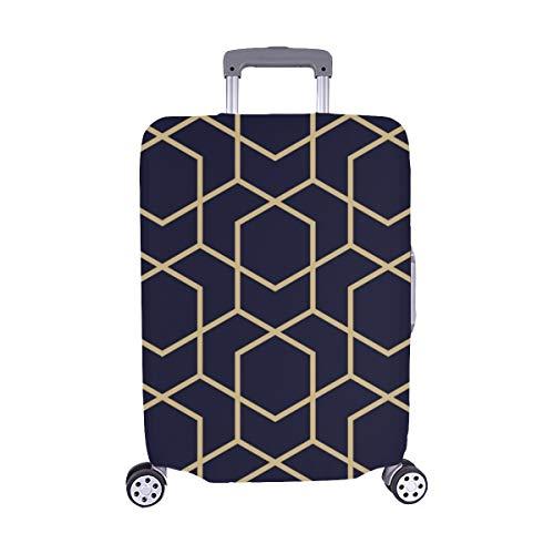 (Nur abdecken) Abstrakte geometrische Muster Linien Rauten Nahtlose Muster Staubschutz Trolley Protector case Reisegepäck Beschützer Koffer Cover 28,5 X 20,5 Zoll