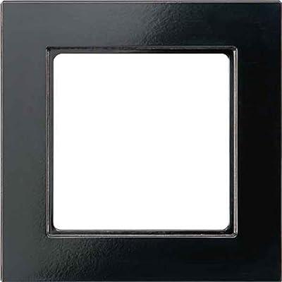 Jung Rahmen 1-fach sw AC 581 SW waage/senkrecht A 500;A creation Abdeckrahmen 4011377038288 von Jung - Lampenhans.de