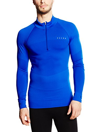 FALKE Herren Skipullover Half Zip Shirt Men, Cobalt, XL, 36463