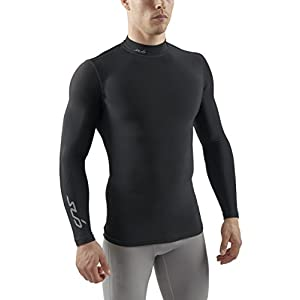 Sub Sports Herren Cold Kompressionsshirt Thermisch Funktionswäsche Base Layer Langarm (Mock/Rollkragen)