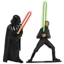 Star Wars - Decoración para tartas (muñecos de Luke Skywalker y Darth Vader)