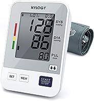 Tensiómetro de Brazo, HYLOGY Tensiómetro de Brazo Digital, 2 Memorias de Usuario(2 * 90), Escala de Colores de