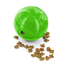 PetSafe SlimCat Food-Dispensing Cat Toy Green, Treat Toy, Interactive Food Dispenser, Activity Snack Ball for Cats of All Ages