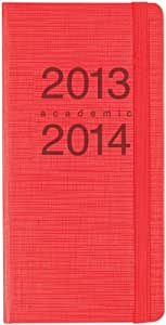 Letts Memo Slim 18 Months 2013/ 2014 Week to View Academic Diary - Red