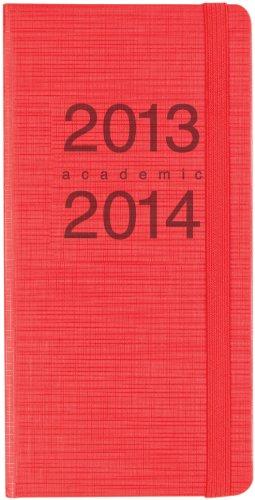 Letts memo - diario scolastico 2013/2014 18 mesi, vista settimanale, formato sottile, colore: rosso