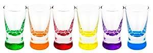 Lot de 6 verres à shooter colorés