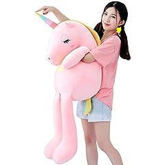 Idea Regalo - Missley Bambino Bambini Arcobaleno Unicorno Peluche Ripieni Animale Bambola Morbido Cuscino Confortevole Abbraccio Cuscino (Rosa, 60CM)