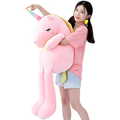 sdtdia Einhorn Geschenke für Kinder, gefüllte Einhorn weichem Plüsch Spielzeug großes Geburtstagsgeschenk Mädchen (Rosa, 60cm)