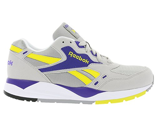 Reebok Classic Bolton Homme Retro Baskets / Sneakers, Gris Tin Grey/Steel/Purple
