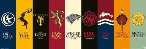 """Póster """"Game of Thrones"""" (Juego de Tronos) Sigils (Escudo de Armas) (91,5cm x 30cm)"""