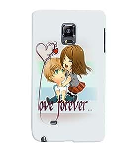 PrintVisa Cute Cartoon Romantic Lovers 3D Hard Polycarbonate Designer Back Case Cover for Samsung Galaxy Note Edge