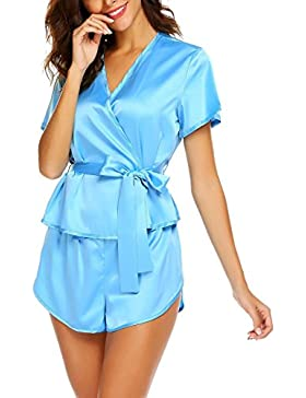 Scallop Donne pigiameria sexy due pezzi estate con i bicchierini Notte Suit Shorty