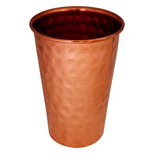ITOS365 Copper Tumbler Hammered Drinking Glasses for Healing Ayurvedic Product