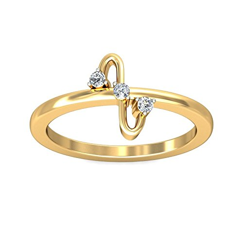 Belle Diamante 18K Gold and Diamond Ring  available at amazon for Rs.4572