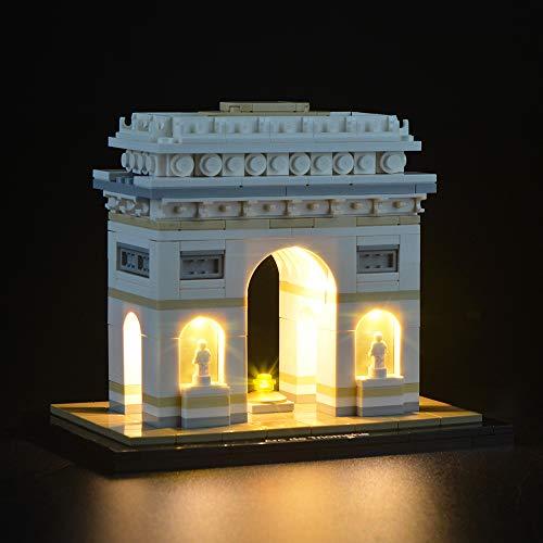 LIGHTAILING Jeu De Lumières pour (Architecture L'Arc de Triomphe) Modèle en Blocs De Construction - Kit De Lumière A LED Compatible avec Lego 21036(Ne Figurant Pas sur Le Modèle)