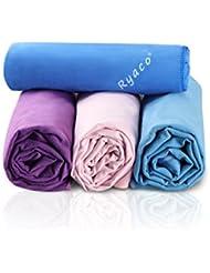 Ryaco [Schnelltrocknend & Antibakteriell] Mikrofaser handtücher, reisehandtuch zum Sport, Haar, Fitnessstudio, Fitness, Yoga, Schwimmen-Super saugfähig & Premium Qualität! Mit freiem Wasserresistenz-Aufbewahrungsbeutel