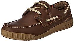 Woodland Mens Camel Leather Espadrille Flats - 10 UK/India (44 EU)