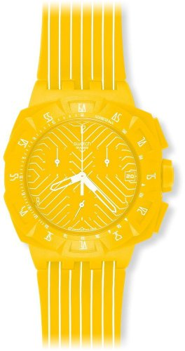 Swatch Chrono Plastic 2 Yellow Run SUIJ400 - Orologio da donna