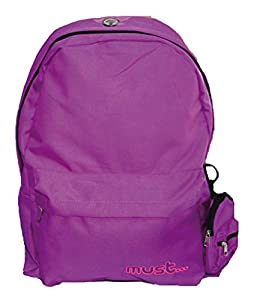 FACTORYCR- Mochila con Monedero Purple 42x32x17 cms Escolar Juvenil Morada, Color, 32 x 42 x 17 cm (579104)
