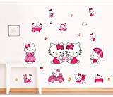 Kibi Stickers Muraux Hello Kitty Autocollants Enfants Hello Kitty Stickers Muraux Enfants Hello Kitty Stickers Muraux Chambre Enfants Wall Sticker Hello Kitty Stickers XXL