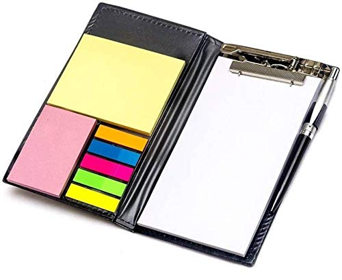 SuperStore Memo Notepad with Sticky Notes and Clip Holder Along with Pen Diary Style