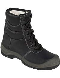 Botas de cordones de invierno Botines de seguridad SAALFELD üK - S3 - con Puntera de acero - negro/gris