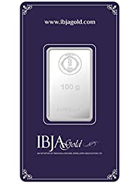 IBJA Gold Investment 100 gm Silver Coin Frames for Women (IG100GMS999INVBR055)