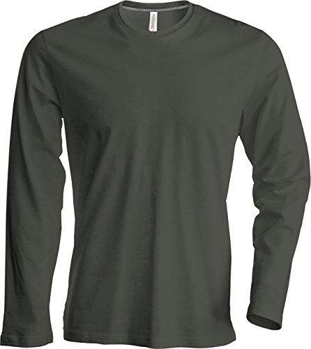 Herren T-Shirt langarm Dark Khaki