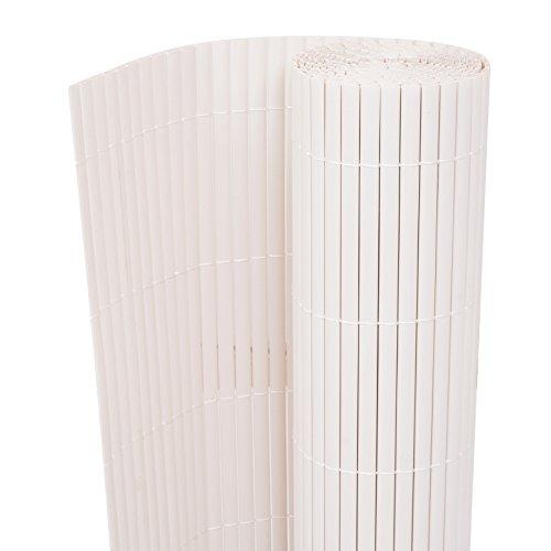 vidaXL Sichtschutzzaun PVC 150x300 cm Weiß Sichtschutzmatte Zaun Garten Balkon