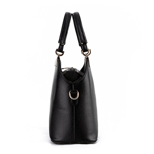 Ms. Diagonal Umhängetasche Hand Geprägte Schalentasche black