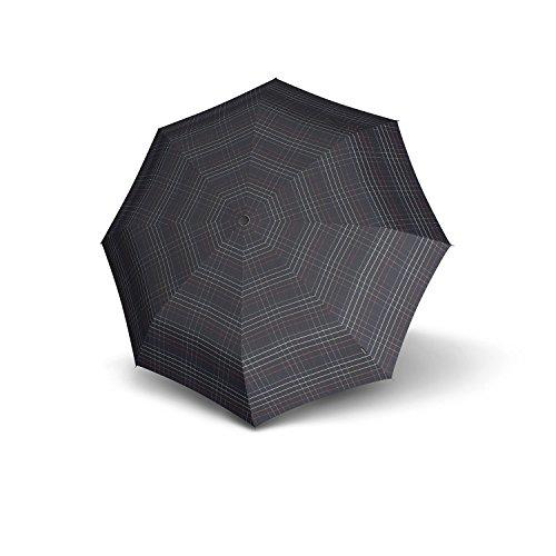 """Ombrello da borsa, modello """"Fiber T1 AC"""" Nero - Black Check (Schwarz)"""