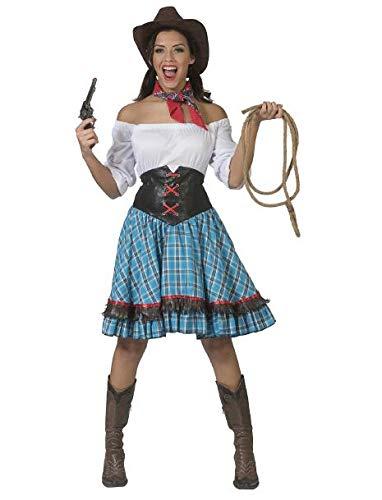 Cowgirl Kurz Damenkostüm Westernlady Wild West Karneval Fasching Kostüm Damen
