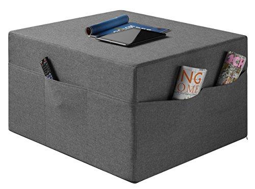 sco Gästematratze/Sitzhocker de Luxe inkl. Husse in Härtegrad 2.5, 195 x 75 x 14 cm, grau ()