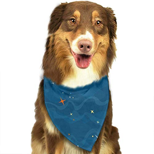 Wfispiy Space Moon Star Fashion Pet Bandanas Dog Car Neck Scarf for Unisex Pet Boy - Women's Space Kostüm