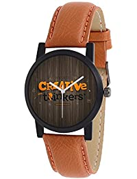 Swadesi Stuff Exclusive Stylish Black Dial Analog Watch For Men & Boys - Creativ