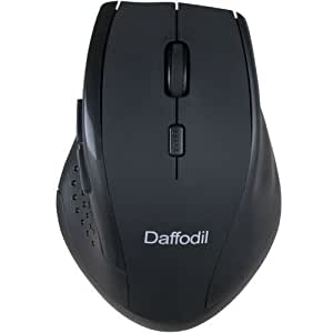 Wireless Mouse with 5 Buttons and Scrollwheel - Daffofil WMS328B - Control Your Computer with Ease and Precision thanks to Side Navigation Buttons, Scrollwheel and Sensitivity Adjustment Button