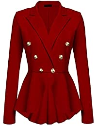 Mujer Blazer Elegante Formal Negocios Oficina Delgado Americana Abrigos  Fashion Modernas Estilo De Las Mujeres Estilo 9fd84711fa4a