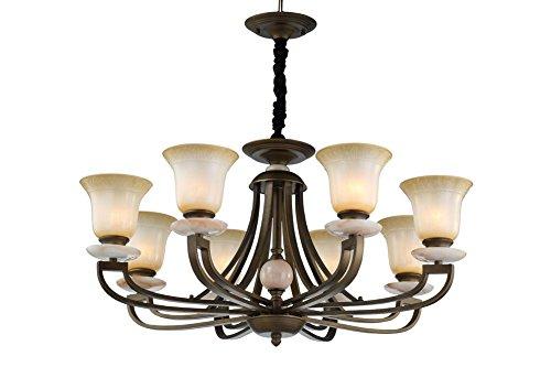 BJVB Lampadari American Style Bronze Soggiorno Luci Pendenti decorativi (Acciaio Per Scale Ferroviaria)